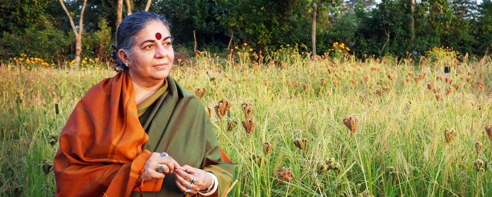 Vanda Shiva y la alimentación sana