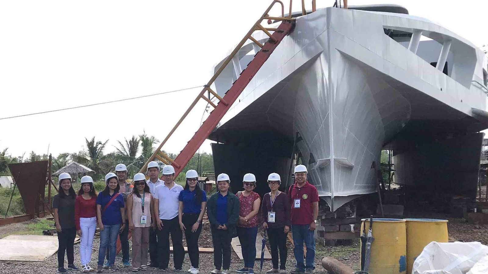 The prototype wave-powered boat is hoped to be the first in a series of increasingly ambitious designs moving away from fossil fuels (Credit: PCIEERD/Aklan State University)