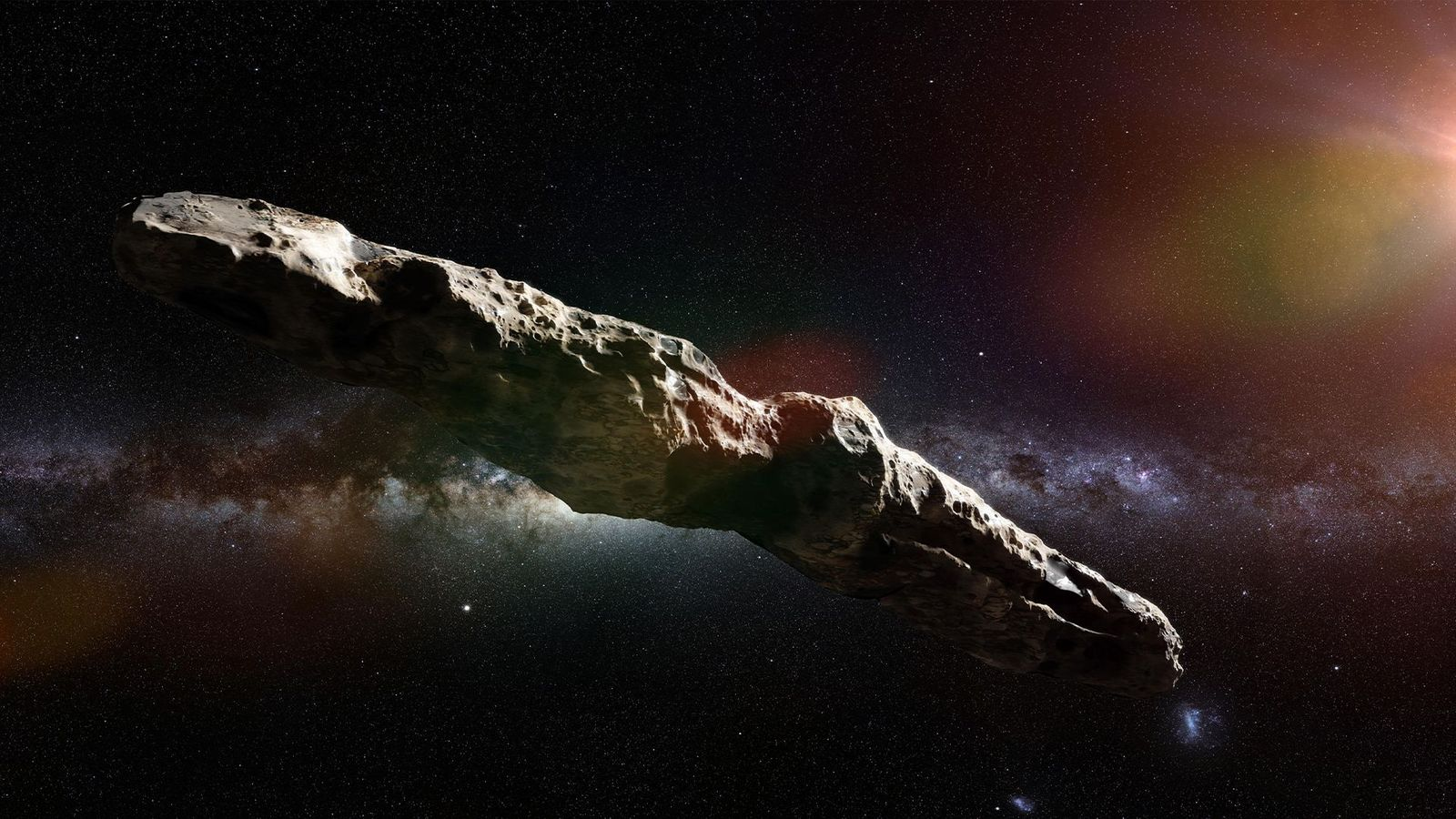 An artist's impression of the alien object 'Oumuamua (Credit: Alamy)