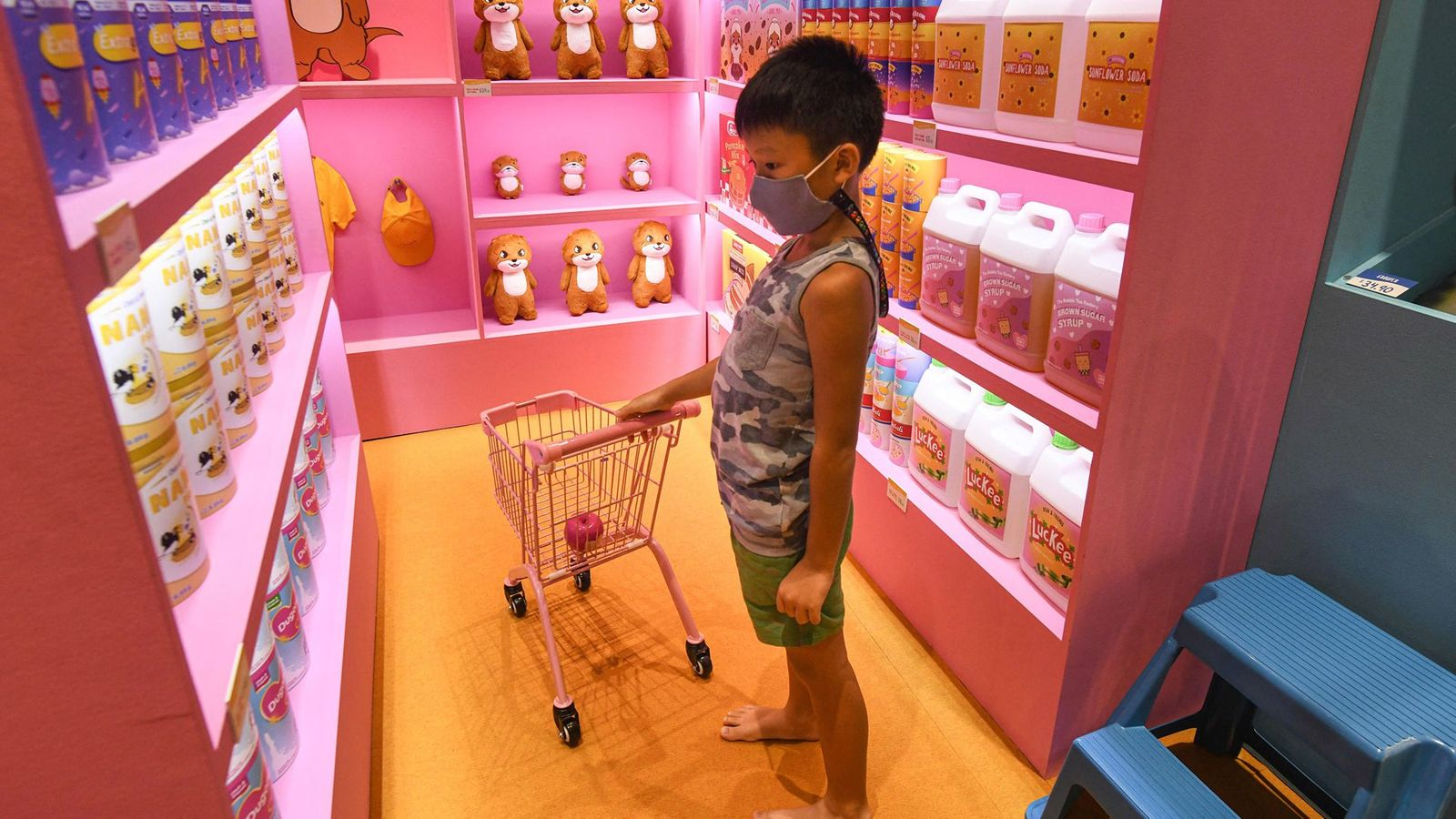 In Singapore, it's common for young children to wear masks against Covid – but some parents worry it might affect their development (Credit: Getty Images)