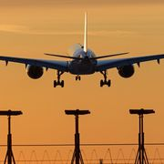 A plane landing at Vancouver airport on 21 March 2020 thumbnail
