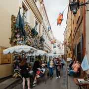 A crowded street in Vilnius on 6 June 2020 thumbnail