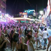 File image of young tourists in Magaluf's main strip thumbnail