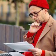 Man on a bench, thinking thumbnail