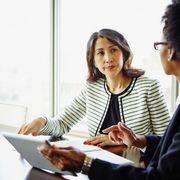 Woman asking her boss for hybrid thumbnail