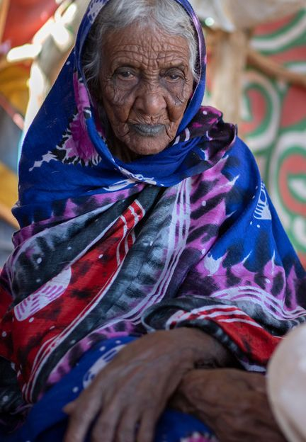 Medina, a 98-year-old Hasania nomad, has seen firsthand how the climate has changed in the Sahara during her lifetime (Credit: Credit: Matt Stirn)