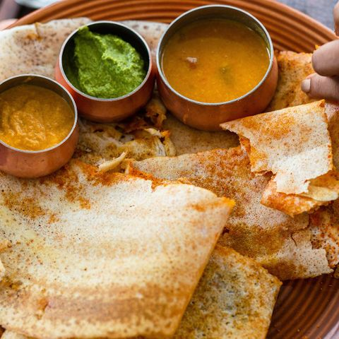 Dosai is a go-to India breakfast food that has evolved into a fast food item (Credit: Credit: Sanjay Borra/Alamy)