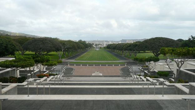The National Memorial Cemetery of the Pacific in Honolulu (Credit: Simon and Susan Veness)