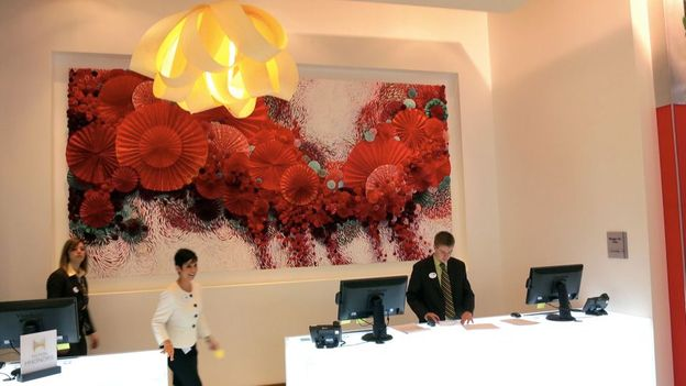 The lobby of Homewood Suites by Hilton (Credit: Chris McGinnis)