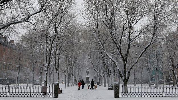 Boston Common in winter (Credit: Jared Wickerham/Getty)