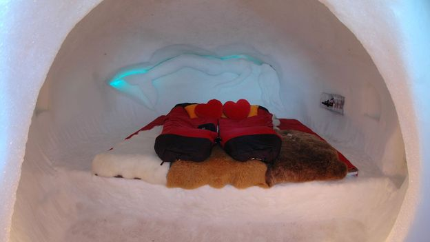 An igloo in the Swiss Alps (Credit: Welcome Beyond)