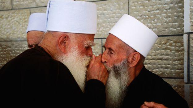 Holy men (Credit: Hanan Isachar/Getty)
