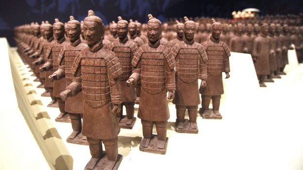 Miniature chocolate Terracotta Warriors (Credit: AFP/Getty Images)
