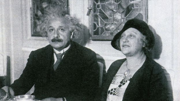 Einstein and his wife onboard (Credit: Tourism Flanders)