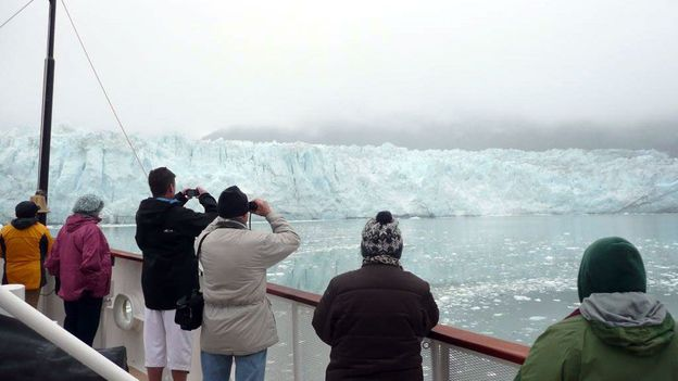 A close-up of Margerie Glacier in Glacier Bay (Credit: Simon and Susan Veness)