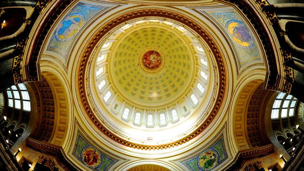The rotunda of the Wisconsin State Capitol (Credit: Karen Bleier/AFP/Getty)