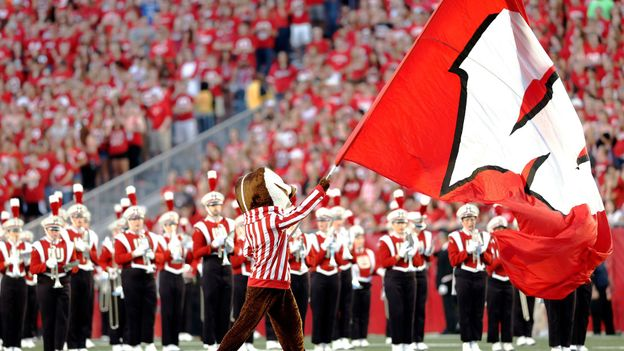 Bucky Badger, mascot of the Wisconsin Badgers (Credit: Tom Lynn/Getty)