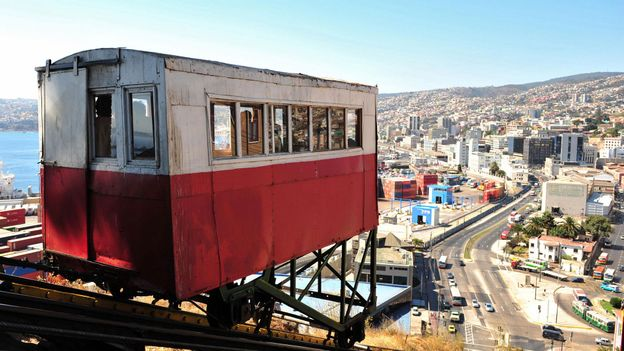 The funicular elevator at Artillery Hill in Valparaiso (Credit: Martin Bernetti/AFP/Getty)