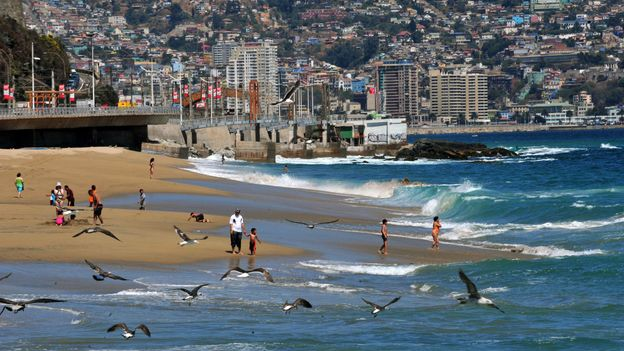 View of a Valparaiso beach (Credit: Martin Bernetti/AFP/Getty)