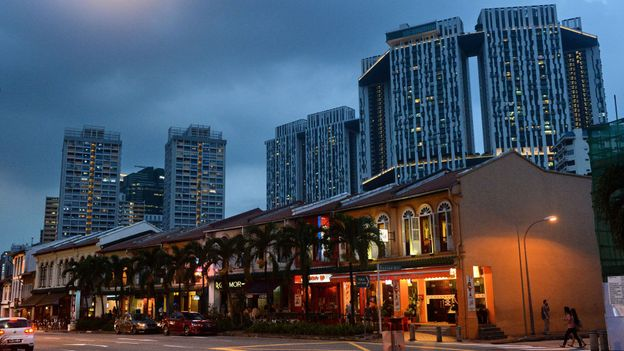 A row of shophouses along Tanjong Pagar Road in Singapore (Credit: Roslan Rahman/AFP/Getty)