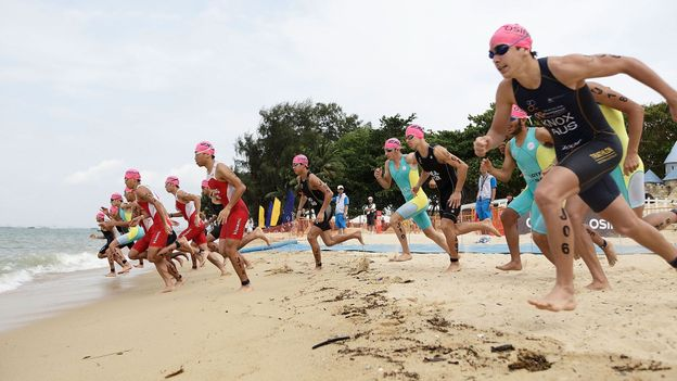 The 2011 Singapore International Triathlon (Credit: Suhaimi Abdullah/Getty for SSC)