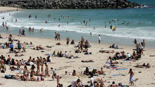 Perth's popular Cottesloe beach (Credit: Greg Wood/AFP/Getty)
