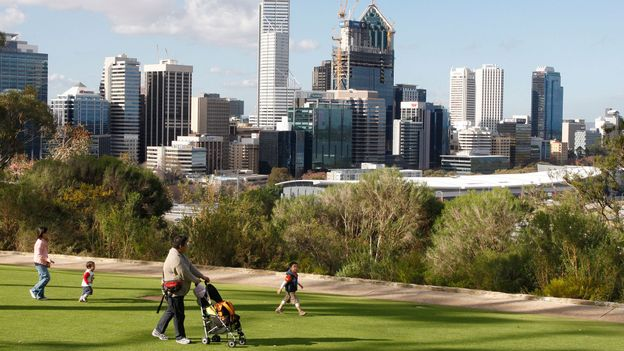 Perth's skyline (Credit: Tony Ashby/AFP/Getty)