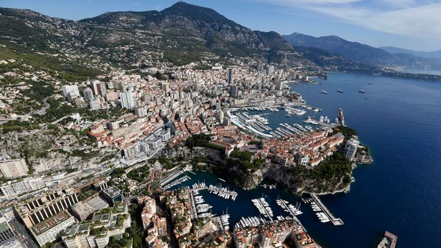 An aerial view of Monaco (Credit: Valery Hache/AFP/Getty)