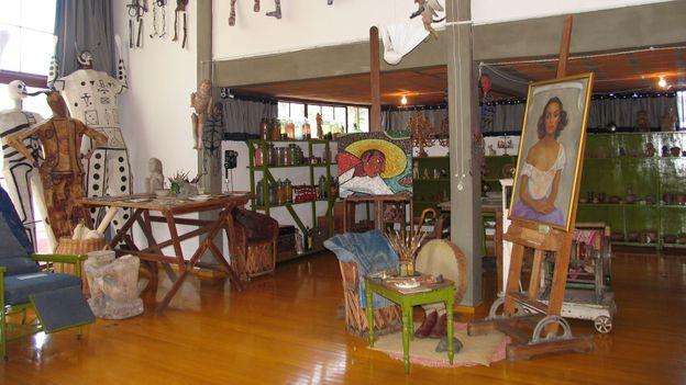 Rivera's studio, Museo Casa Estudio Diego Rivera y Frida Kahlo (Credit: Kate Armstrong)