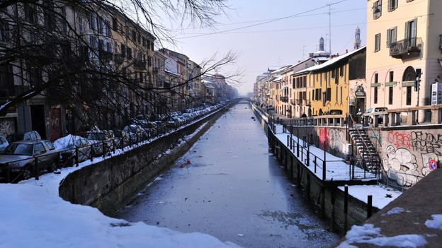 A canal in the Navigli district (Credit: Giuseppe Cacace/AFP/Getty)