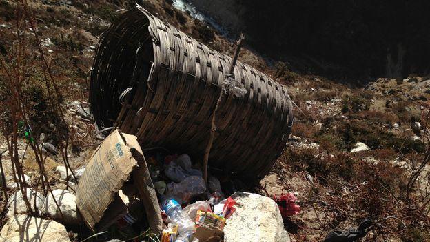 Trailside trash (Credit: Adam Popescu)