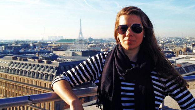 The author in her new life (and in Paris)
