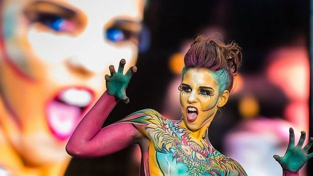 Bbc Travel Bizarre Body Painting In Austria