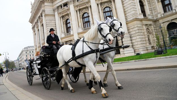 Traditional transport in Vienna (Credit: Alexander Klein/AFP/Getty)