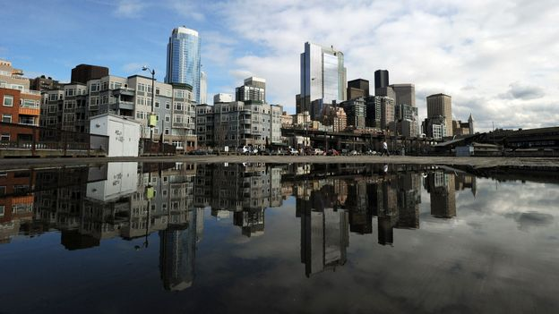Seattle's skyline (Credit: Mark Ralston/AFP/Getty)