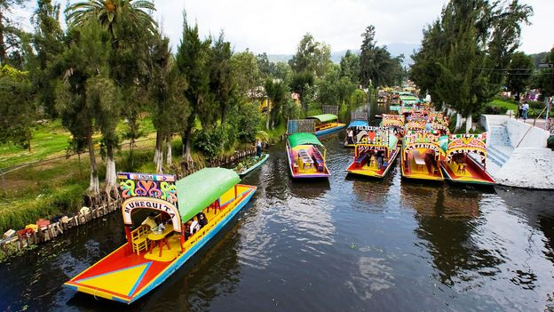 Boats in Xochimilco (Credit: Luis Acosta/AFP/Getty)
