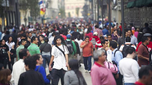 Mexico City's usual crowds (Credit: Yuri Cortez/AFP/Getty)