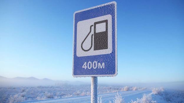 Frozen on the Kolyma Highway (Credit: Amos Chapple/Getty)