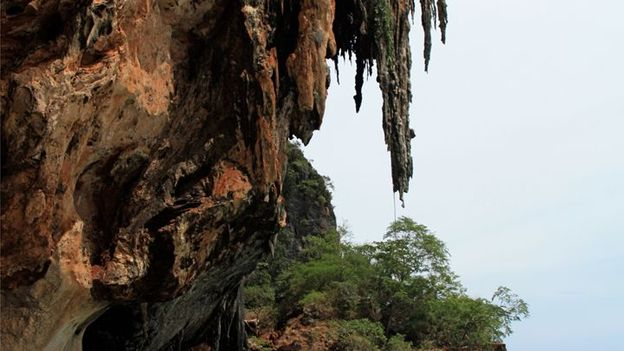 Cliff formations in Thailand (Credit: Gina Dowd)