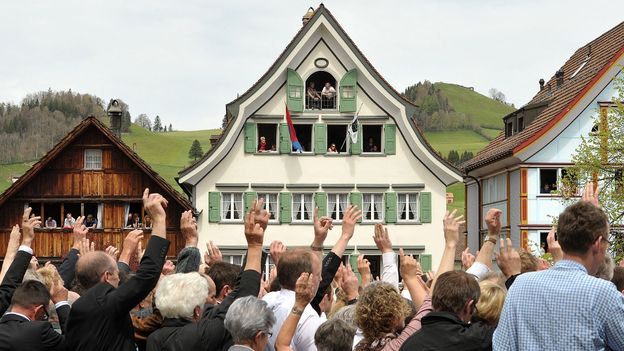 Appenzell's open-air assembly (Credit: Harold Cunningham/Getty)