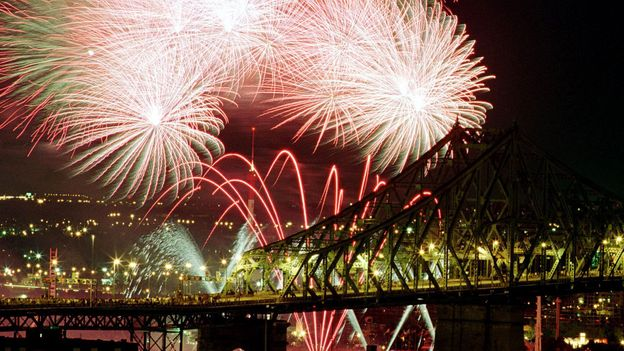 For some, Montreal inspires fireworks (Credit: Andre Forget/AFP/Getty)