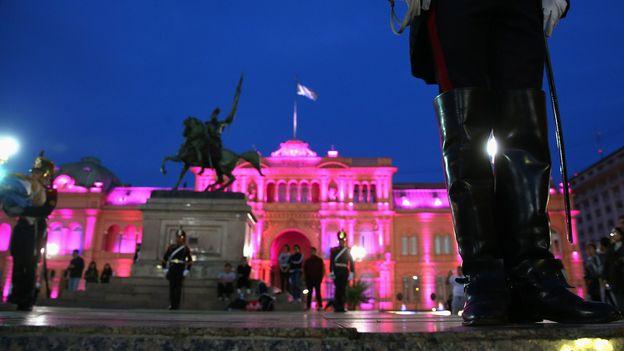 Executive mansion of the Argentine president (Credit: Alexander Hassenstein/Getty)