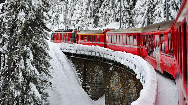 Ride the Rhaetian Railway (Credit: Harold Cunningham/Getty)