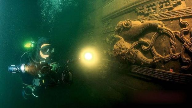 Scuba through Shicheng (Credit: Chinese National Geography)
