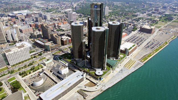 The General Motors headquarters (Credit: Jeff Haynes/AFP/Getty)