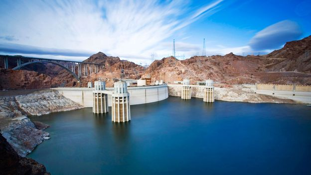 Lake Mead and the Hoover Dam (Credit: Randi Ang/Getty)