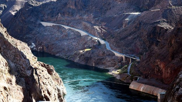 The Colorado River flows at the Hoover Dam (Credit: Ethan Miller/Getty)