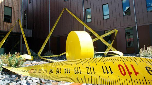 The island's oversized tape measure (Credit: Hana Schank)