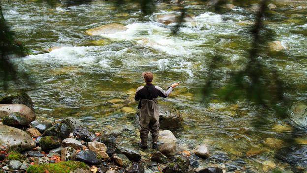 Flyfishing on a nearby stream (Credit: Josh Humbert)