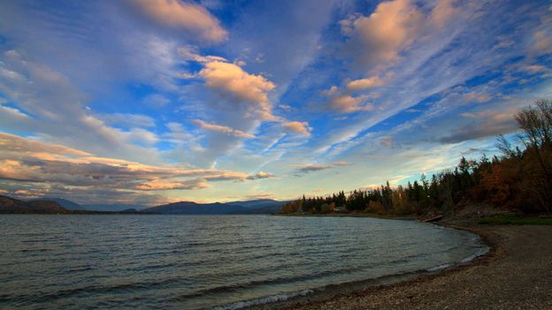Above the run at Shuswap Lake (Credit: Josh Humbert)